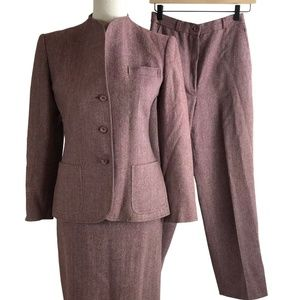 Daniel for Spellbound Sz 8 Red Wool Suit 3 Piece